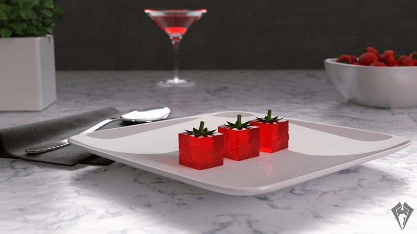 Molecular Strawberry Jelly -1