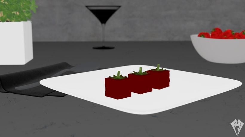 Molecular Strawberry Jelly 1