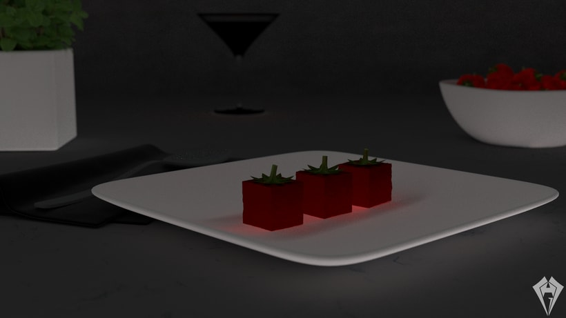 Molecular Strawberry Jelly 2