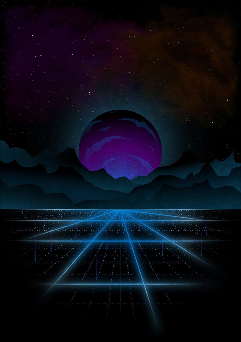 Retrowave art 1