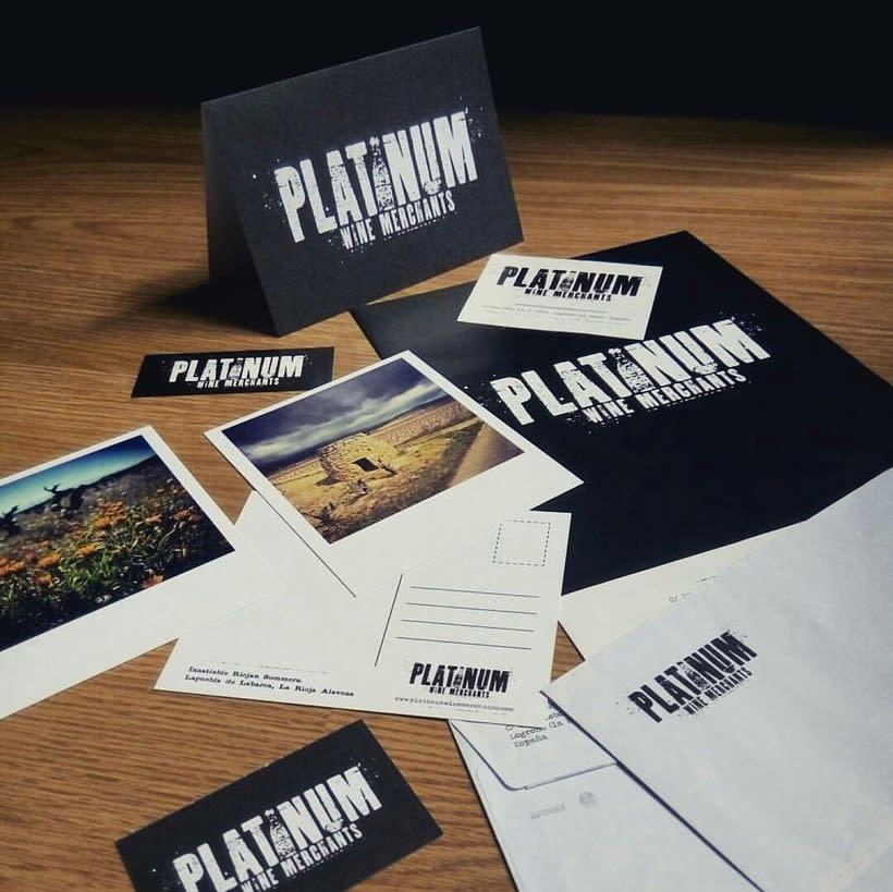 PLATINUM Wine Merchants - Identidad Corporativa 1