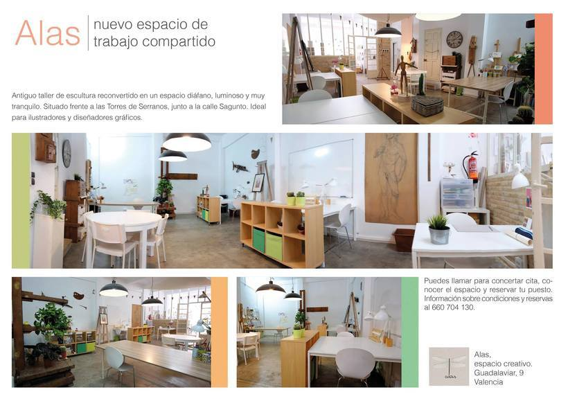 Coworking en Valencia, busca ilustradores, diseñadores gráficos, creativos... 1