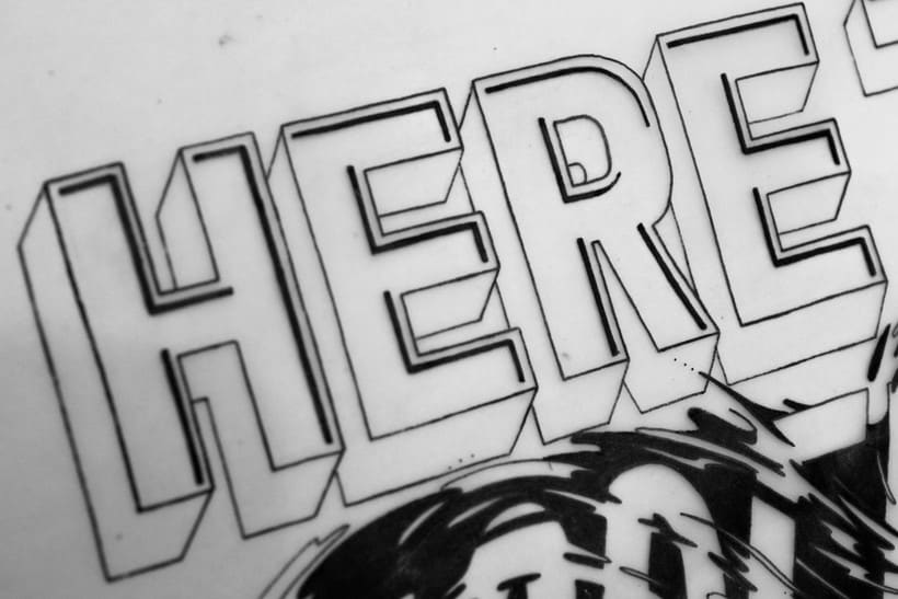 #HereToCreate Adidas Woman - Lettering Mural -1