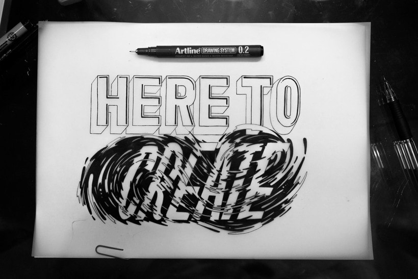 #HereToCreate Adidas Woman - Lettering Mural 2