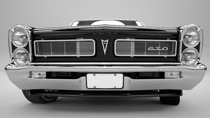 Pontiac gto 1965 3D model -1