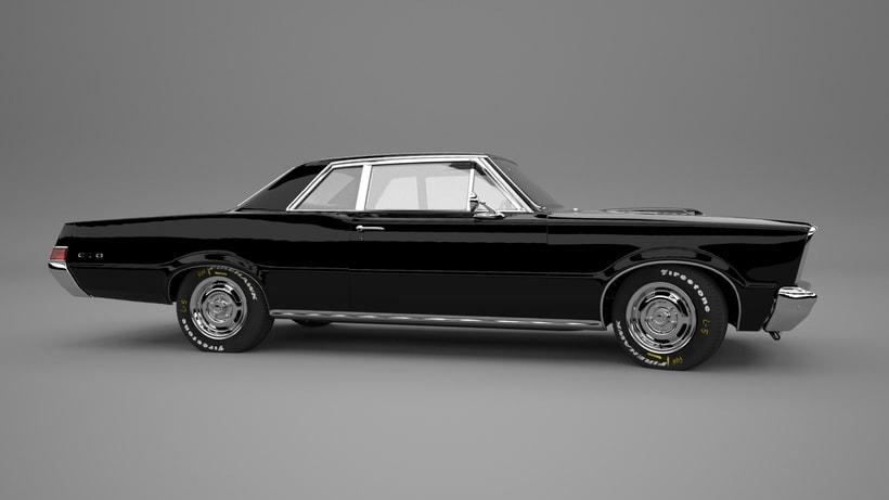 Pontiac gto 1965 3D model 0