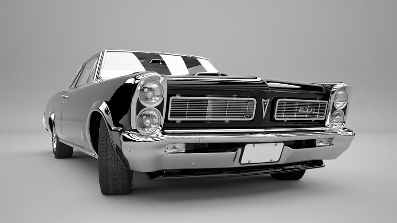Pontiac gto 1965 3D model 1