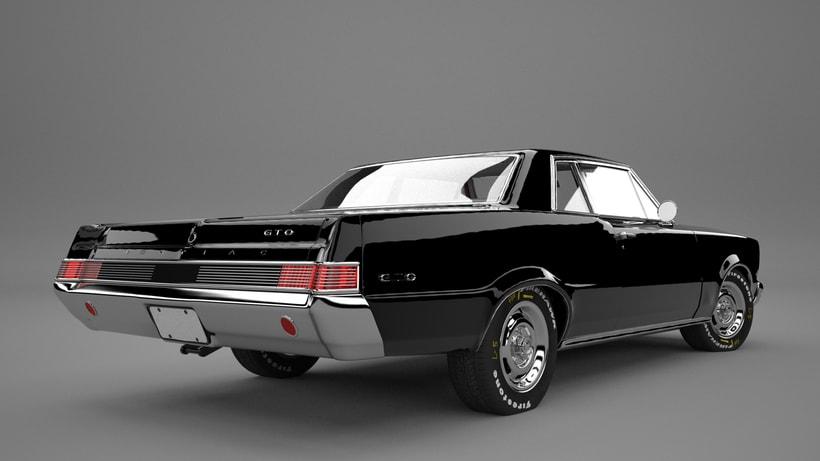 Pontiac gto 1965 3D model 2