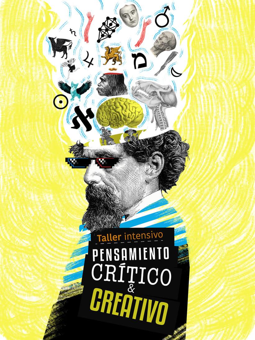 """Cartel para curso """"Pensamiento Crítico y Creativo""""  -1"""