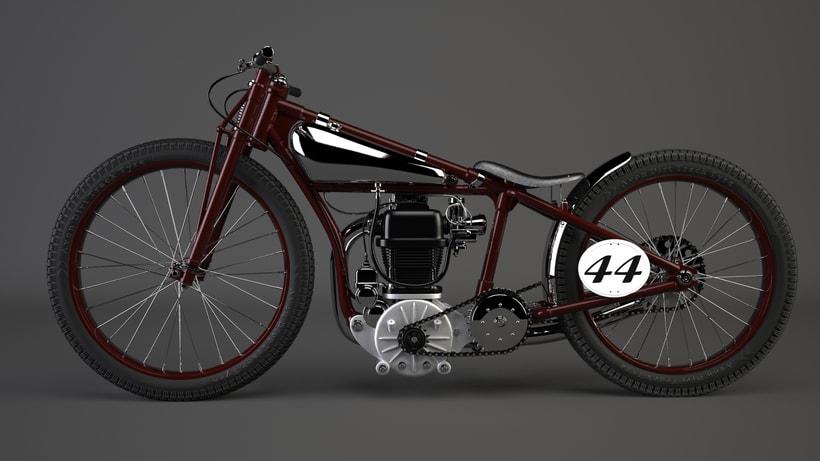 Crocker speedway motorcycle 3Dmodel -1