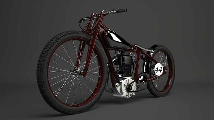 Crocker speedway motorcycle 3Dmodel 0