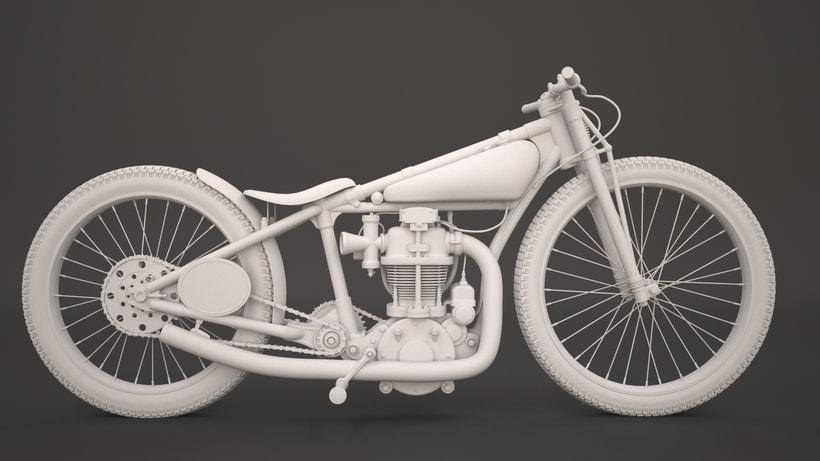 Crocker speedway motorcycle 3Dmodel 2