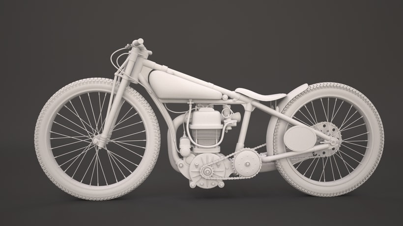 Crocker speedway motorcycle 3Dmodel 3