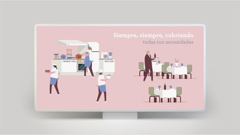Campaña publicitaria e Ilustraciones corporativas para empresa de seguros 5