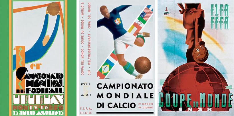 Los carteles de la Copa Mundial de Fútbol de 1930 a 2018 4