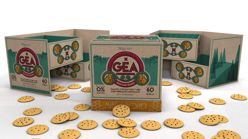GEA (galletas) : Packaging design -1