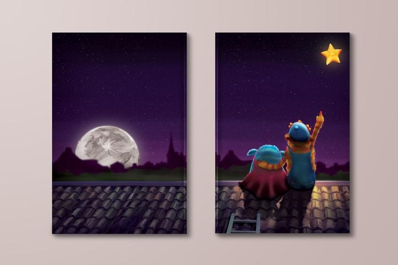 Ilustración Libro Infantil 'Teikirizi & Pa'lante y la estrella de los sueños' 9