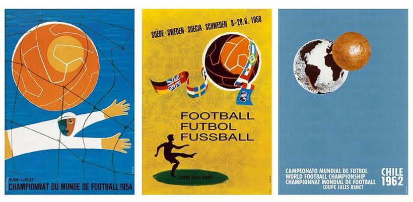 Los carteles de la Copa Mundial de Fútbol de 1930 a 2018 11