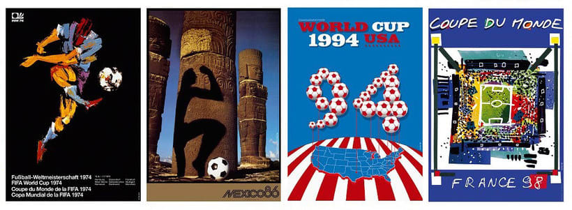 Los carteles de la Copa Mundial de Fútbol de 1930 a 2018 17
