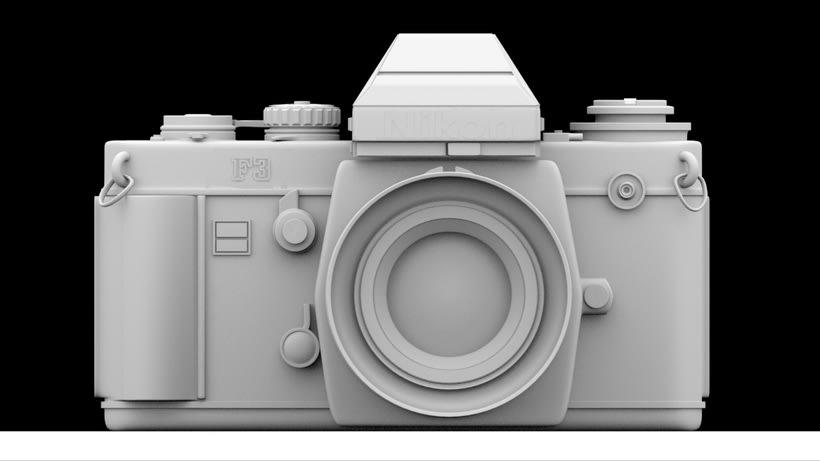 Proyecto 3D - Cámara Nikon FM2  -1
