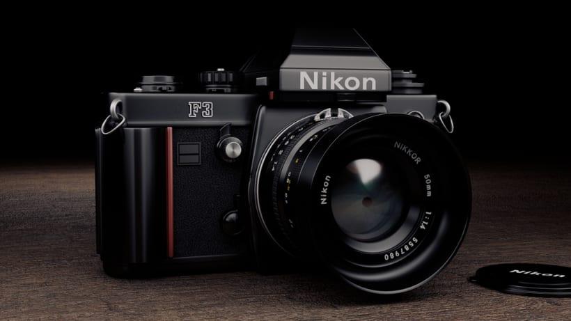 Proyecto 3D - Cámara Nikon FM2  2