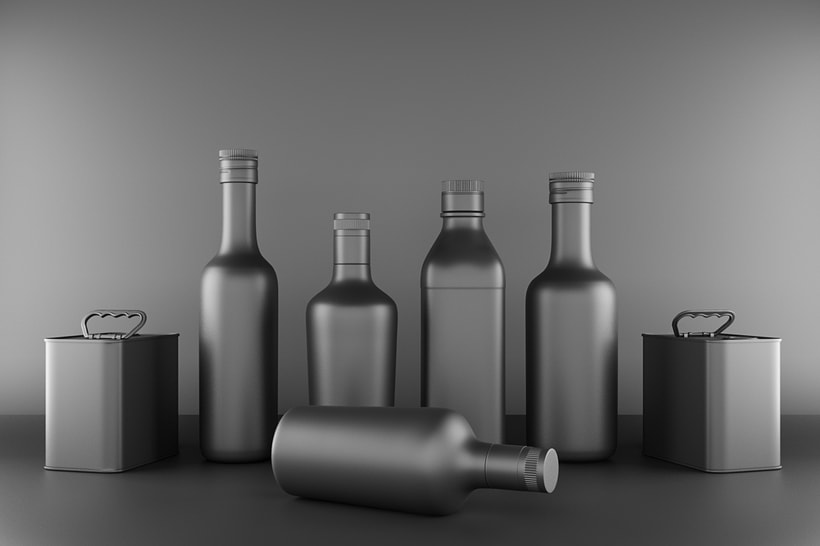 Packaging and marketing projecto . 3D Modeling, lighting and shading -1