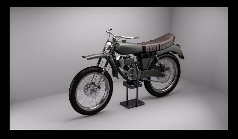 3D Modeling, shading & Lighting - Motorbike -1