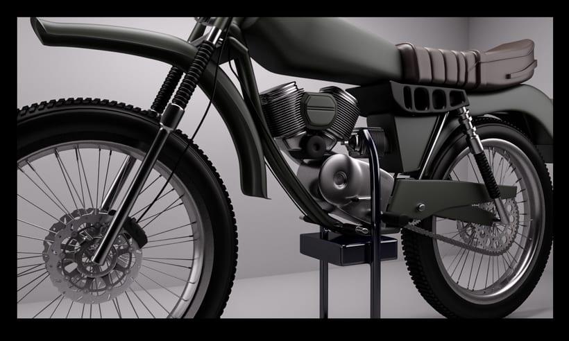 3D Modeling, shading & Lighting - Motorbike 0