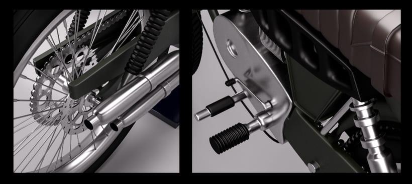 3D Modeling, shading & Lighting - Motorbike 1