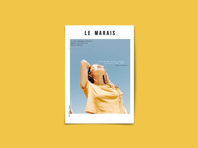 magazine cover · Le Marais, 1