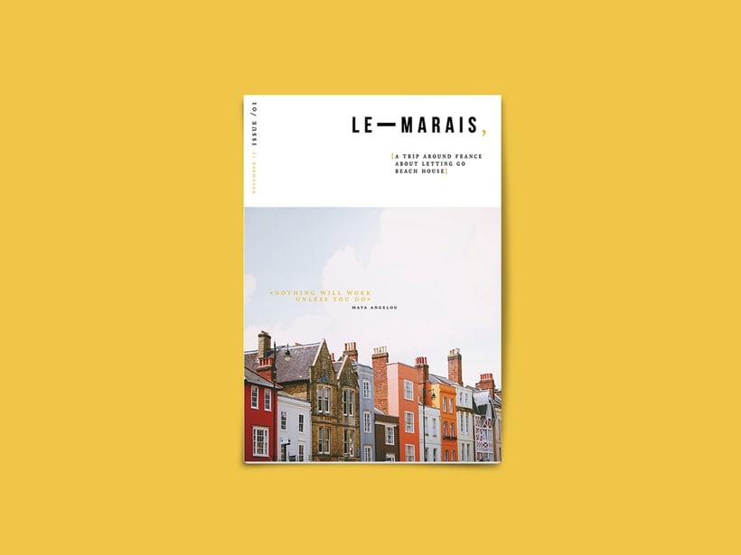 magazine cover · Le Marais, 2