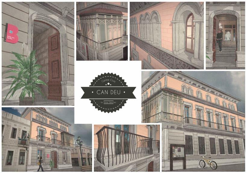 Modelado 3D (Edificio Can Deu - Barcelona) 0