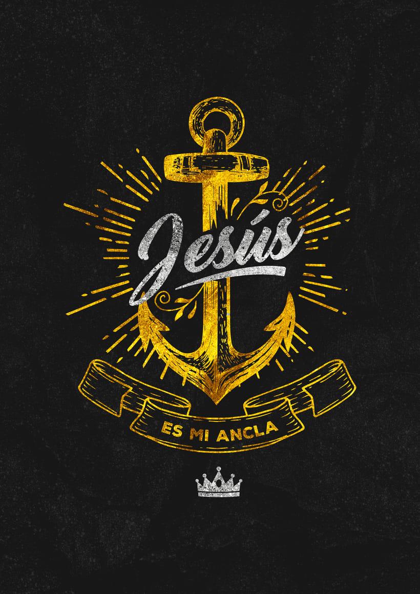 Poster y  Estampado - Jesus es mi ancla 0