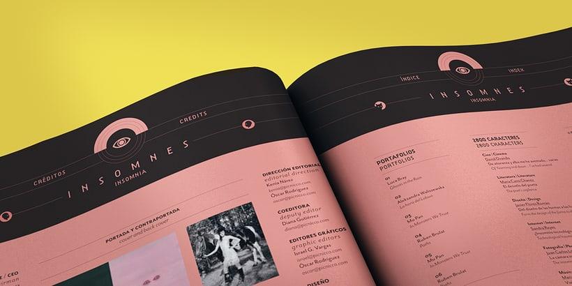 Revista Picnic #54, Insomnes. Diseño de páginas preeliminares -1