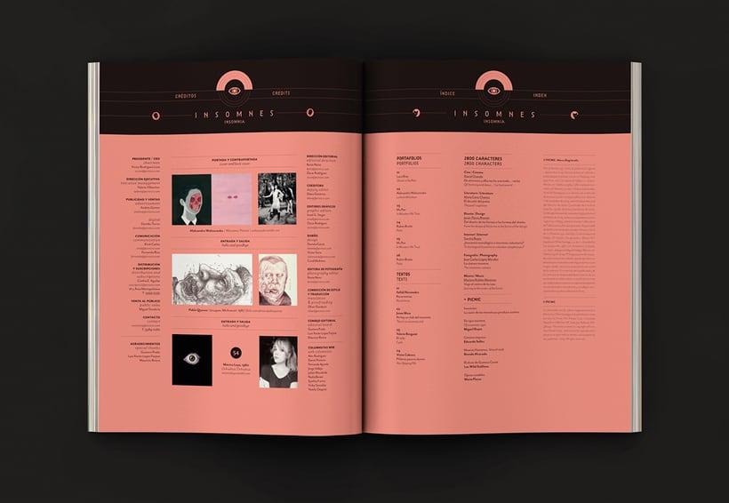 Revista Picnic #54, Insomnes. Diseño de páginas preeliminares 0