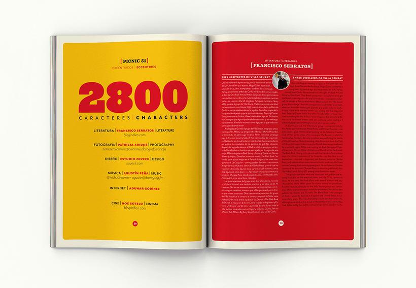 Revista Picnic # 51, Excéntricos. Diseño de páginas sección 2800 caracateres 1