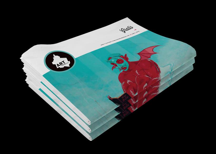Art District # 1. Dirección editorial y edición gráfica. Publicación impresa gratuita -1