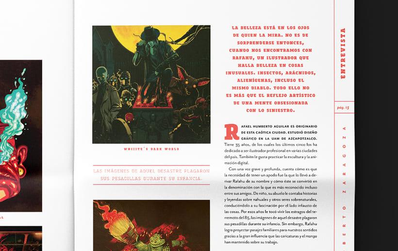 Art District # 1. Dirección editorial y edición gráfica. Publicación impresa gratuita 1