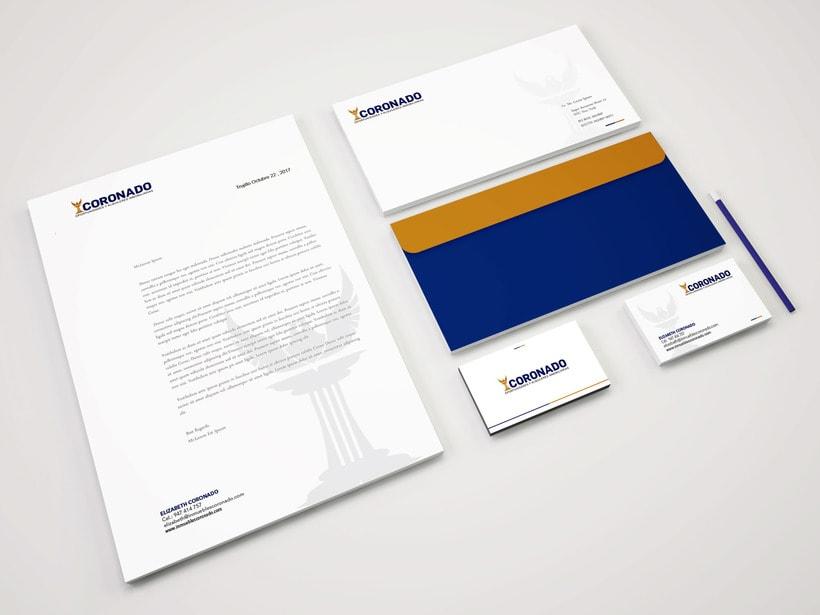 """Mi Proyecto del curso: Creación de marca para Inmobiliaria """"CORONADO"""" 1"""