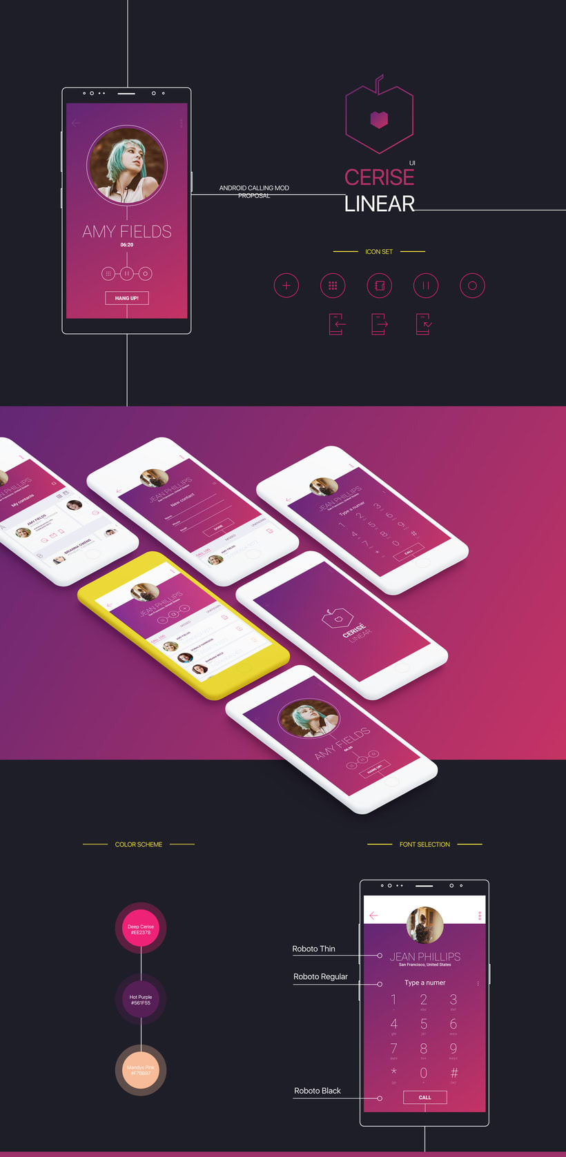 Cerise for Android: Linear concept -1
