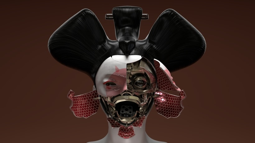 Geisha - Ghost in the Shell - Maya/Arnold/SubstancePainter -1