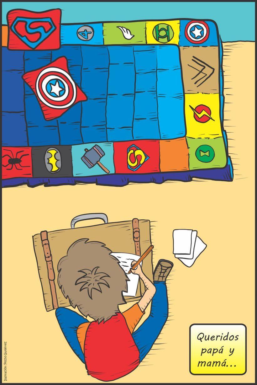 """Ilustraciones para """"Un Superhéroe para Camilo"""" - Autor: Alfredo Alonso Hincapié Daza 2"""