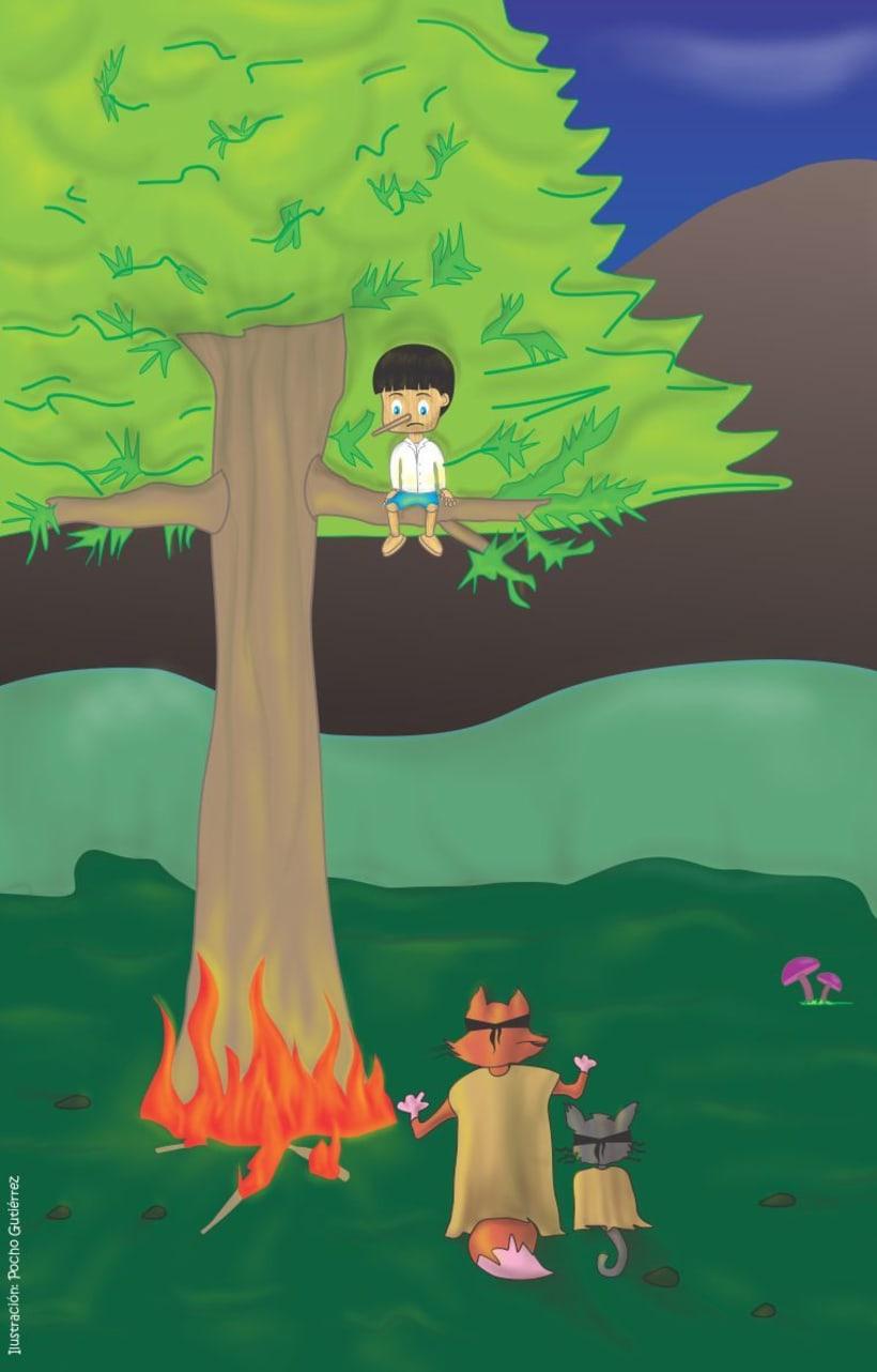 Ilustración Infantil: PINOCHO 1