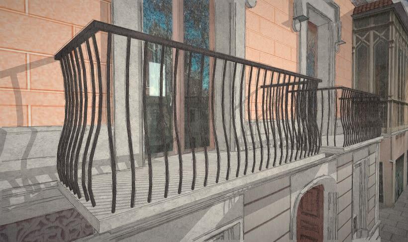 Modelado 3D (Edificio Can Deu - Barcelona) 3