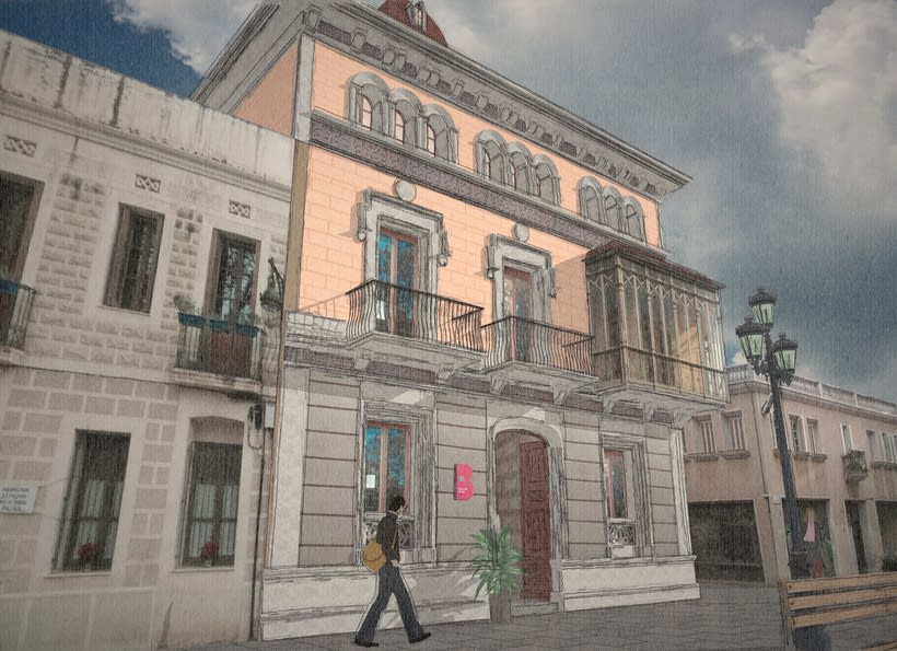 Modelado 3D (Edificio Can Deu - Barcelona) 1
