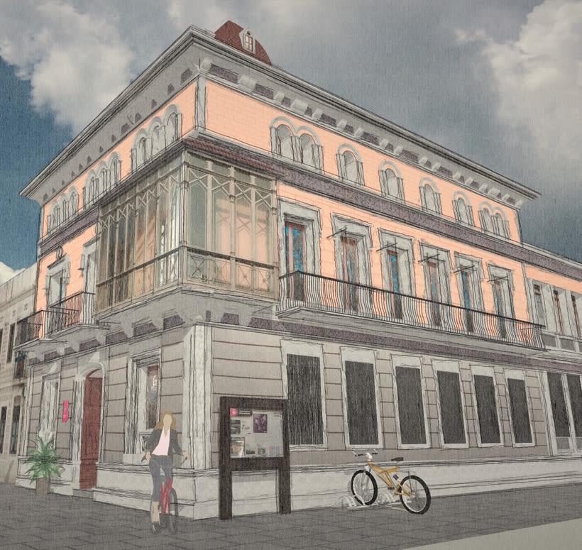 Modelado 3D (Edificio Can Deu - Barcelona) 2