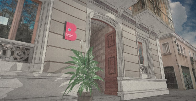 Modelado 3D (Edificio Can Deu - Barcelona) 4