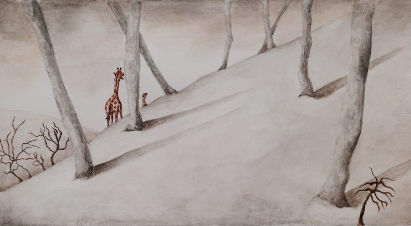 """Ilustraciones para """"Giraffe travels"""" de Michelle Bartley 0"""