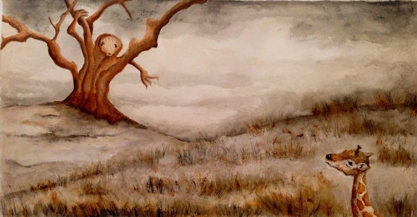 """Ilustraciones para """"Giraffe travels"""" de Michelle Bartley 2"""