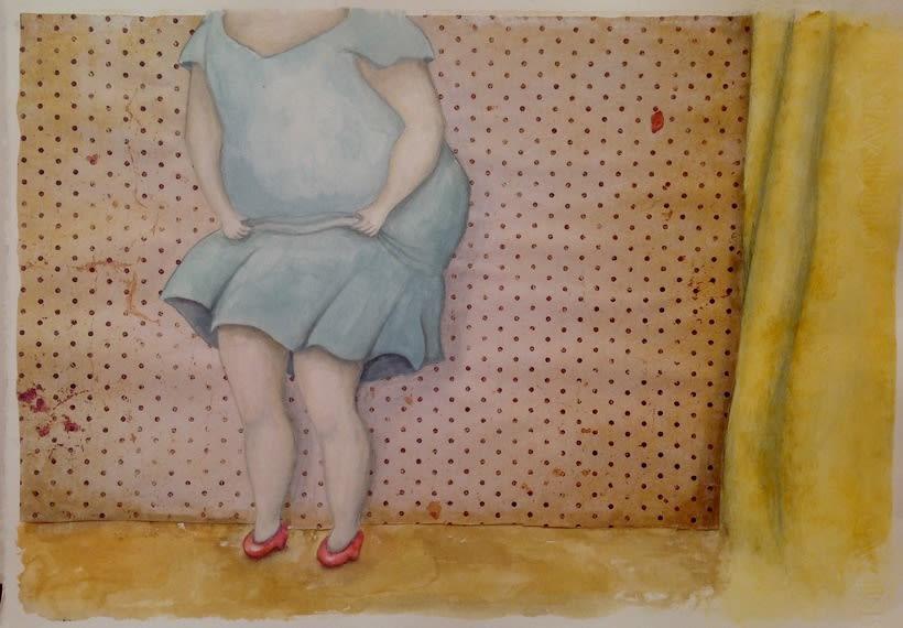 """Ilustraciones para """"La tiendecita flamenquita"""" de Ángeles Cobalea -1"""